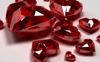 Розовые и красные драгоценные и «полудрагоценные» камни
