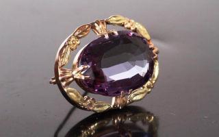 Вдовий камень — александрит, аметист и жемчуг