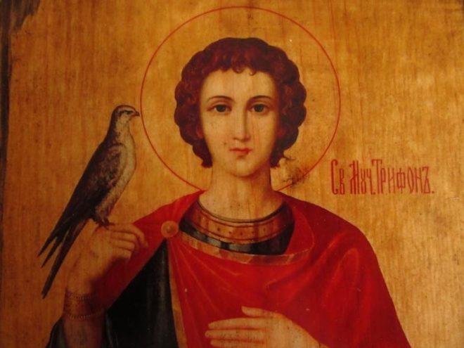 Икона Святого великомученика Трифона