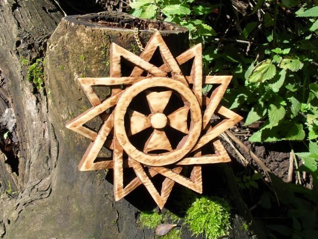 Звезда Эрцгаммы из дерева