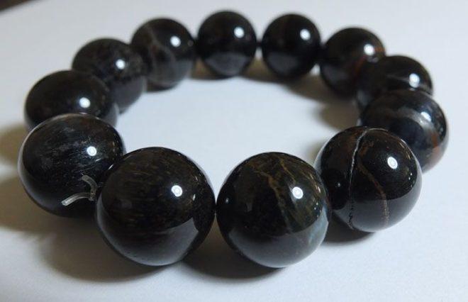 Черный блестящий камень похожий на металл название